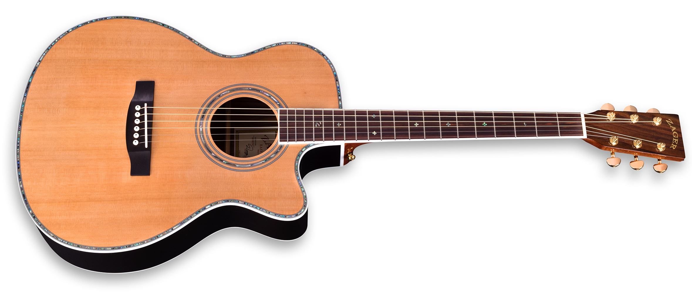 "ZAD80CE Solid Cedar/Rosewood Acoustic Electric Pro Series Smaller ""OM"" Size image"