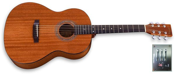 parlor size mahogany electric guitar