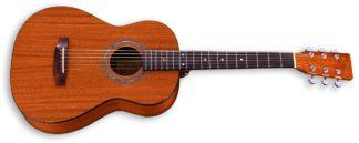 travel size mahogany guitar