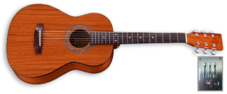 travel size mahogany electric guitar