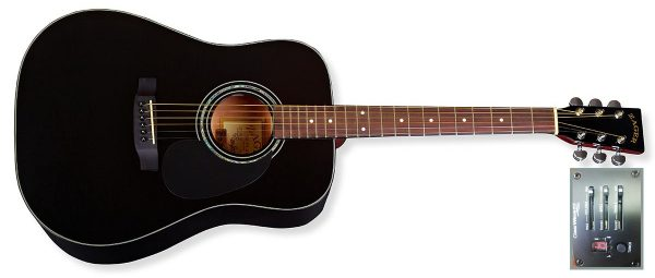 zad20e black guitar