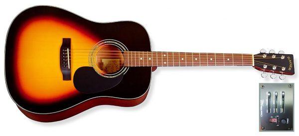 zad20e sunburst guitar