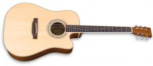 zad50ce solid mahogany acoustic natural