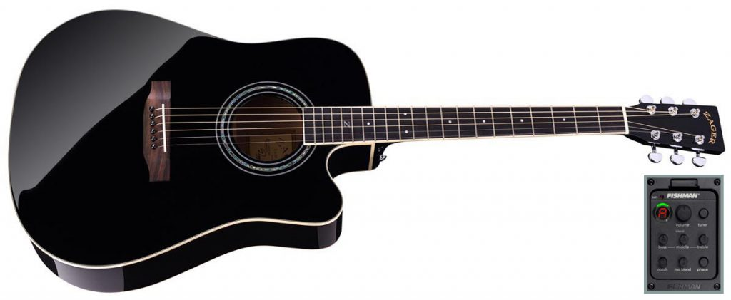ZAD50CE Acoustic Electric Black Laquer (Discount)
