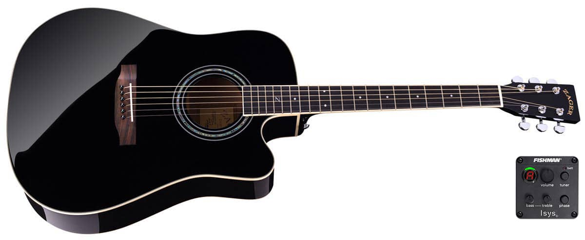 Zad50ce Solid Sprucemahogany Acoustic Electric Black Lacquer