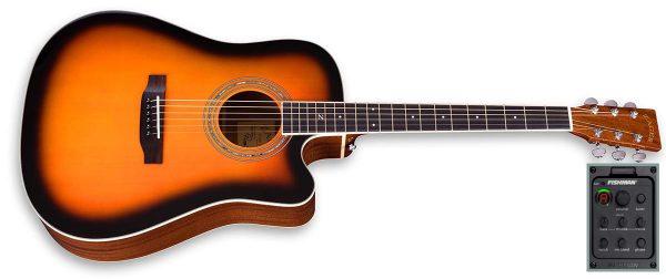 zad50ce sunburst guitar