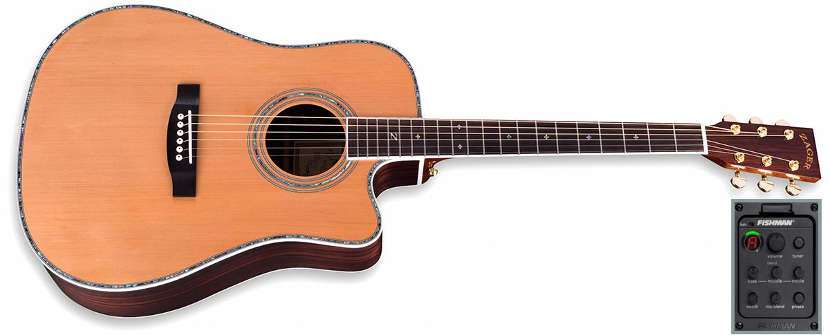 ZAD80CE Solid Cedar/Rosewood Acoustic Electric Pro Series