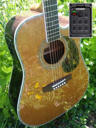 zad80ce solid cedar guitar