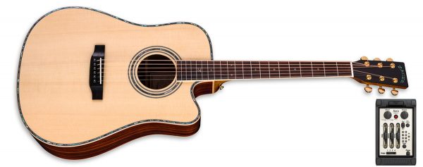 zad900ce solid spruce guitar