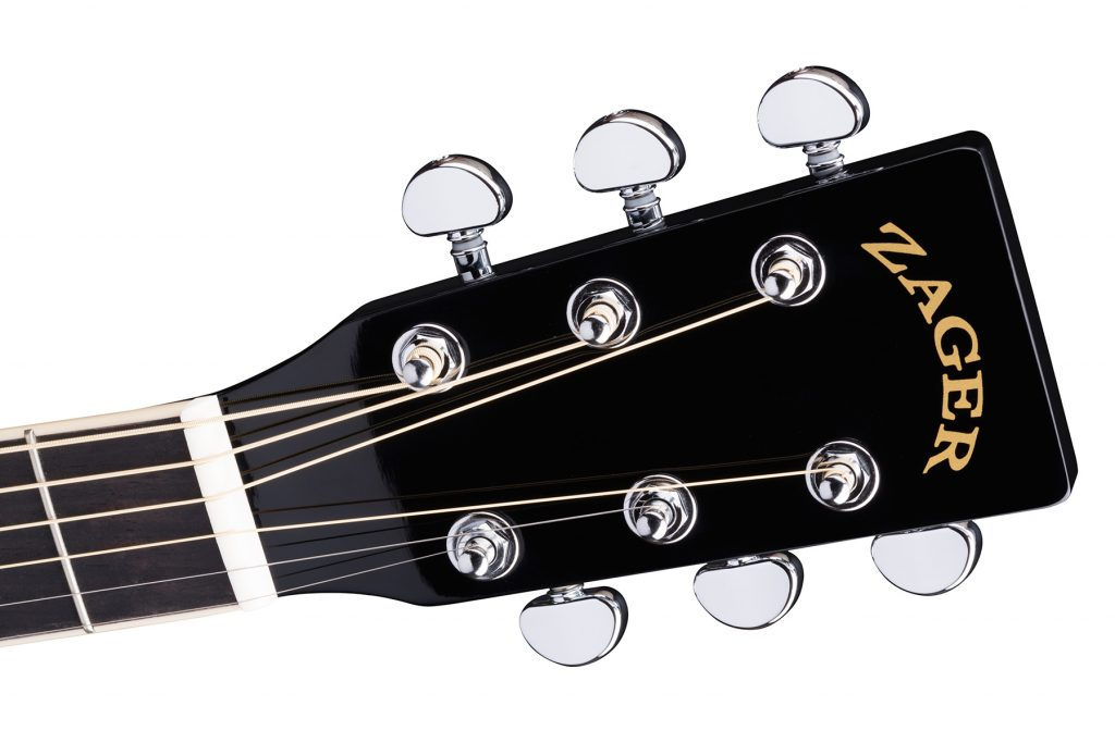 ZAD50CE Solid Spruce/Mahogany Acoustic Electric Black Lacquer