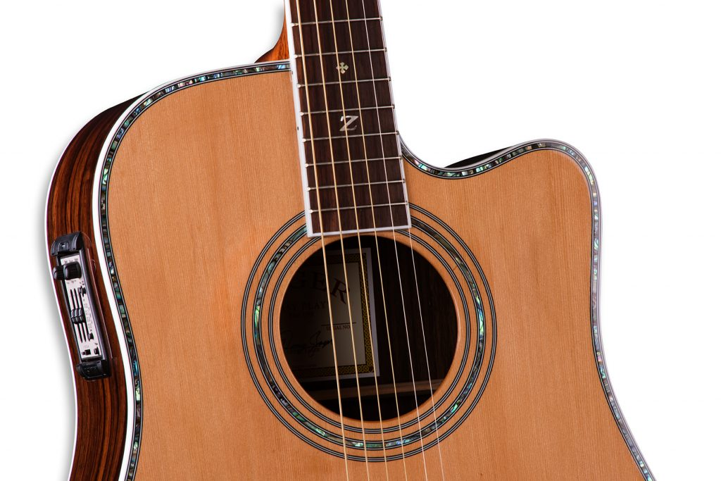 """ZAD80CE Solid Cedar/Rosewood Acoustic Electric """"AURA"""" Pro Series"""