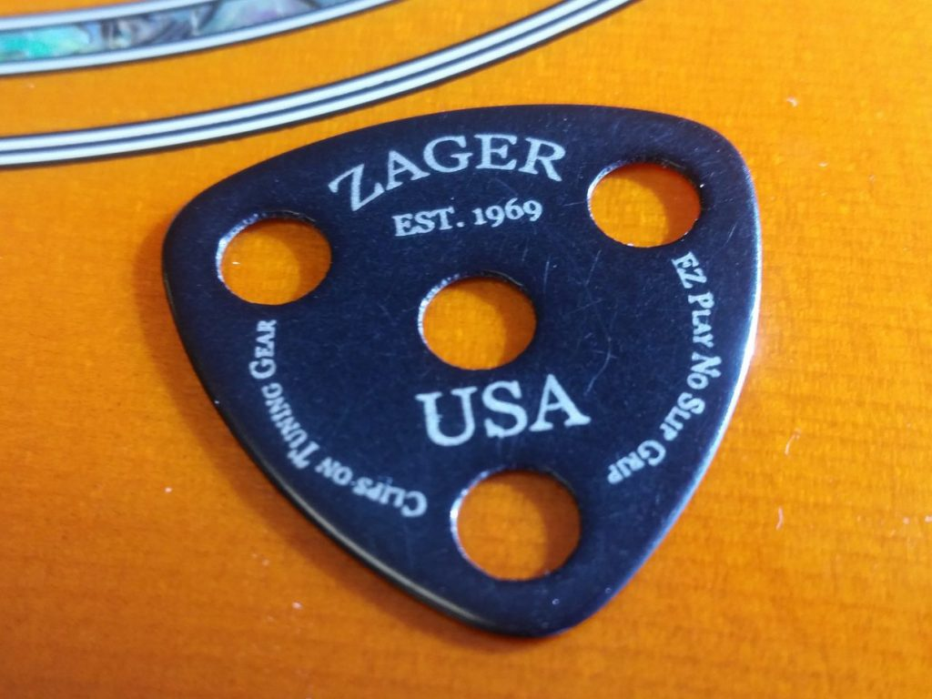 Zager Carbon Flex Tip Guitar Pick w/ Thumb Hole Pivot Point