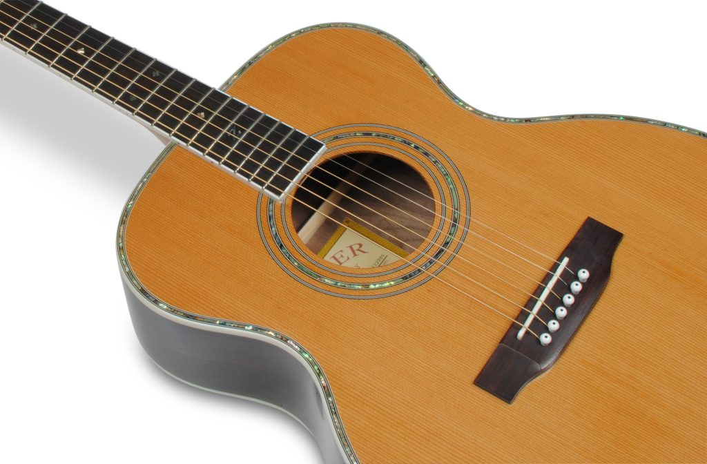 "ZAD80 Solid Cedar/Rosewood Acoustic Pro Series Smaller ""OM"" Size"
