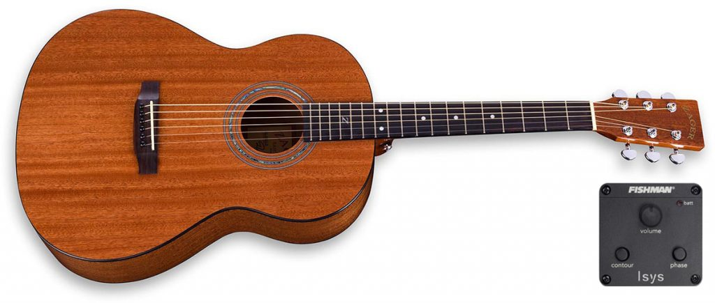 Parlor Size Solid African Mahogany Acoustic Electric