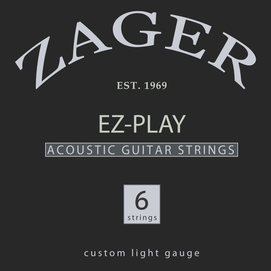 Ez play traditional pure uncoated strings zager guitars for Ez custom t shirts