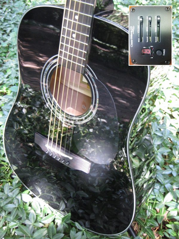 zad20e black guitar