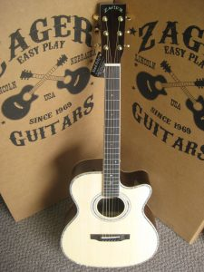 """ZAD900CE Rosewood/Spruce Acoustic Electric AURA Smaller """"OM"""" Size (Discount)"""