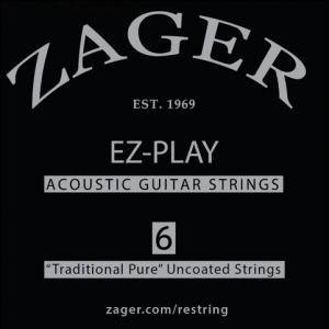 zager ez play pure traditional acoustic guitar strings