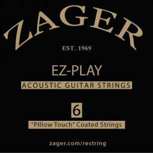 zager ez play pillow touch acoustic guitar strings