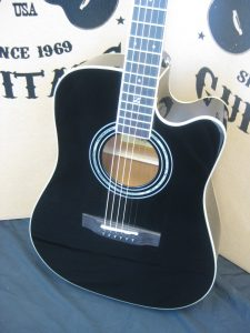 #00017 50CE Black Lacquer Acoustic Electric Discount Guitar