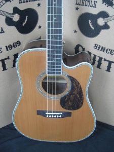 #1782 80CE Aura Acoustic Electric Discount Guitar