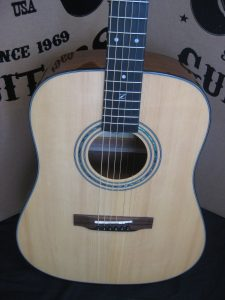 #1802 20E Natural Acoustic Electric Discount Guitar