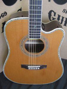 #1803 80CE AURA Acoustic Electric Discount Guitar
