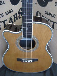 "#1815 80OMCA LH ""Custom Cutaway"" Acoustic Discount Guitar"