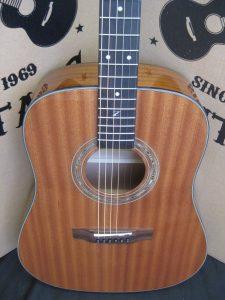 #1849 ZAD20  Mahogany Acoustic Discount Guitar