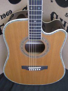 #1853 ZAD80CE Aura Acoustic Electric Discount Guitar