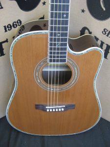 #1856 ZAD80CE Aura Acoustic Electric Discount Guitar