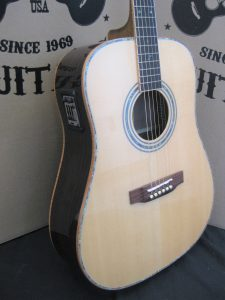 ZAD900E AURA Full Box Custom Acoustic Electric Guitar