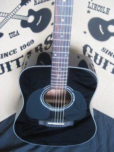 #1858 ZAD20-E Black Left Hand Acoustic Electric Discount Guitar