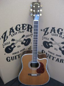#1862 ZAD80CE Aura Acoustic Electric Discount Guitar
