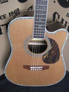 #1884 - 80CE Aura Acoustic Electric Discount Guitar