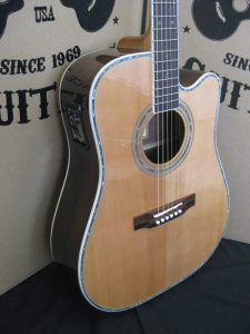 #1995 - ZAD80CE AURA Acoustic Electric Discount Guitar