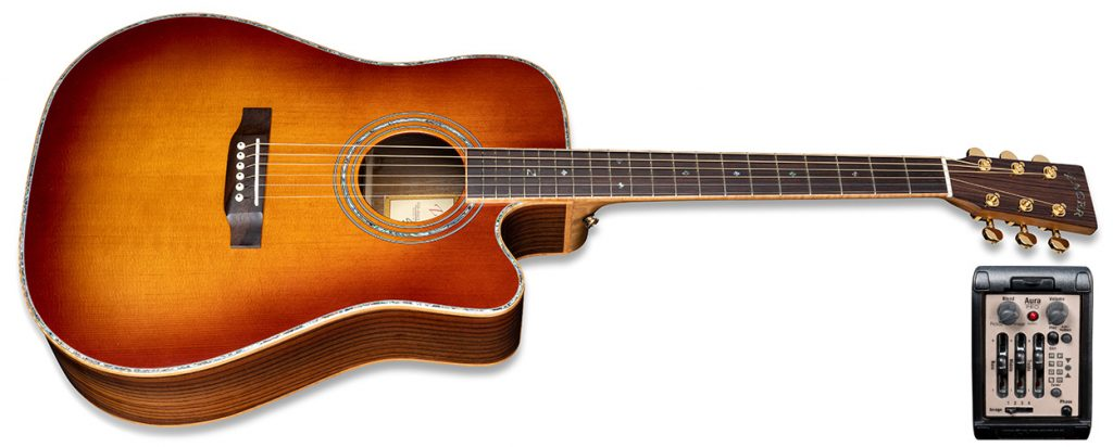ZAD900CE Solid Spruce/Rosewood Acoustic Electric AURA Pro Series 50th Anniversary Tobacco Sunburst