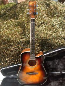 #00063 ZAD50CE Sunburst Guitar