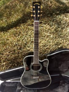 """ZAD80CE Left Handed """"AURA"""" Black Lacquer Special Edition Solid Cedar/Rosewood Acoustic Electric Pro Series"""