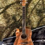 ZAD50CE Left Handed Solid African Mahogany Acoustic Electric