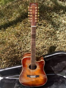 ZAD900CE Left Handed 12 String Solid Spruce/Rosewood Acoustic Electric AURA Pro Series Tobacco Sunburst