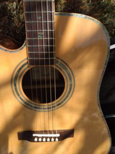 ZAD900CE Left Handed Solid Spruce/Rosewood Acoustic Electric AURA Pro Series