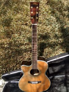 """ZAD80CE Left Handed Solid Cedar/Rosewood Acoustic Electric Pro Series Smaller """"OM"""" Size"""
